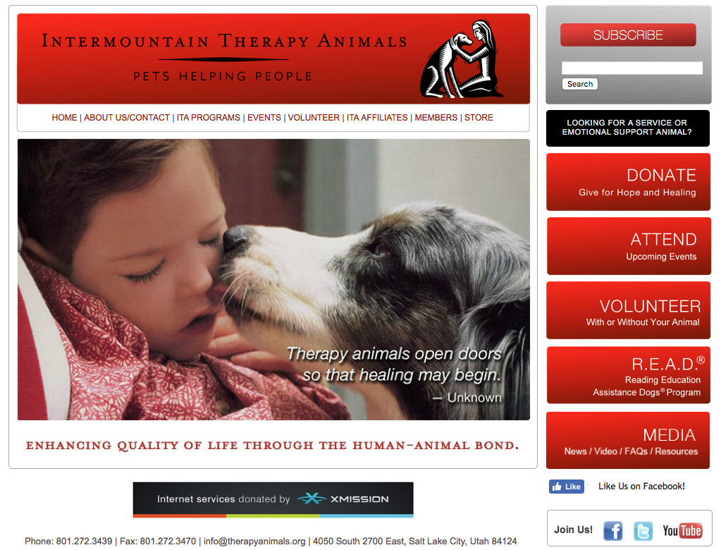 Intermountain Therapy Animals